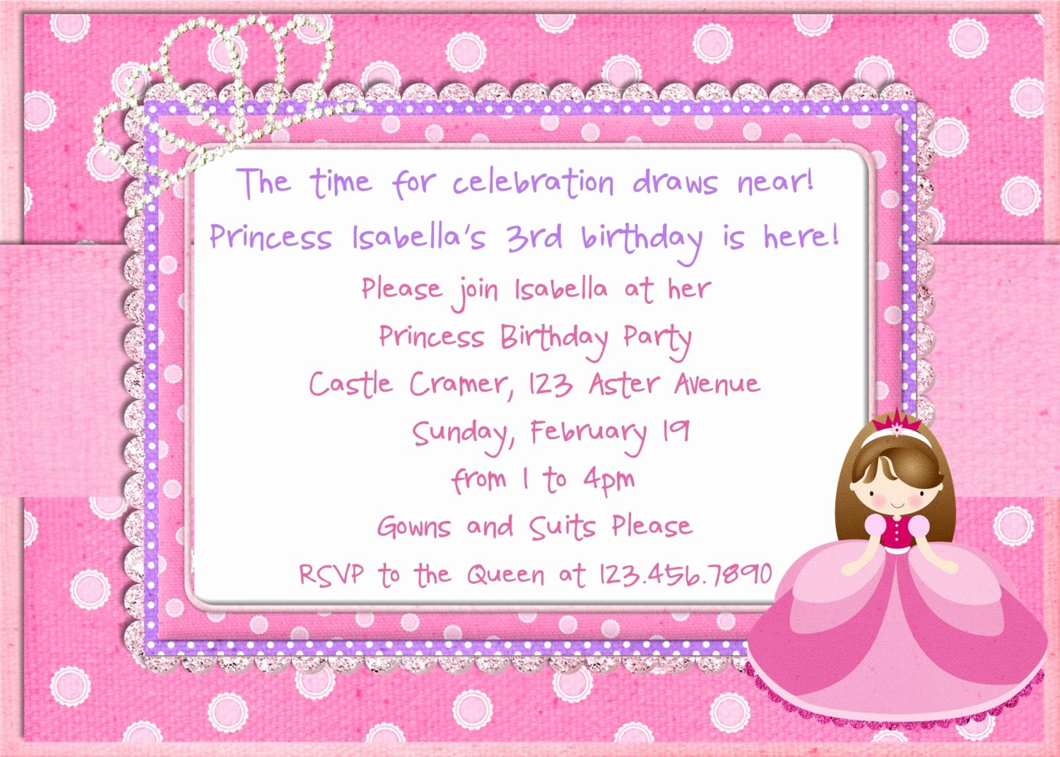 Princess Party Invitation Template Awesome Unavailable Listing On Etsy
