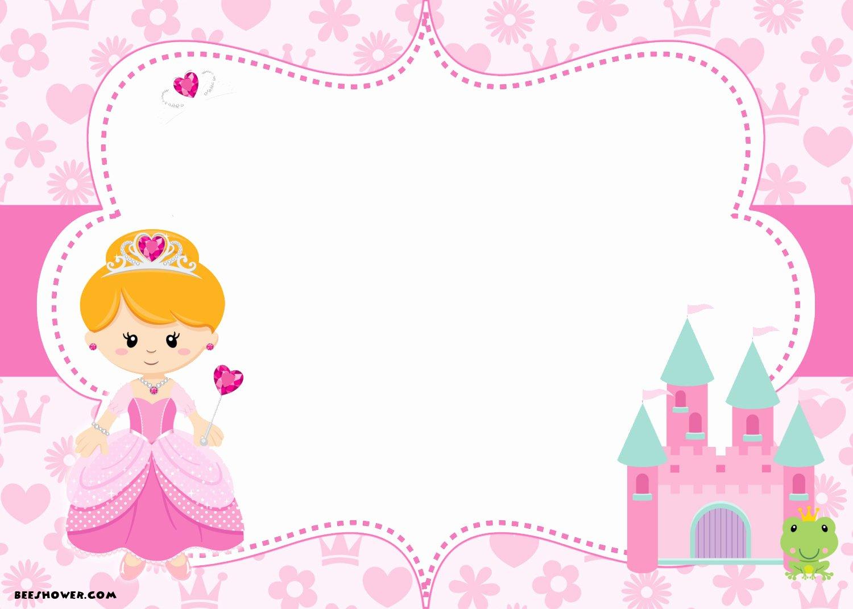 Princess Party Invitation Template Elegant Free Printable Disney Princess Birthday Invitations Template – Free Printable Birthday
