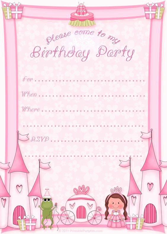 Princess Party Invitation Template Fresh Free Printable Princess Birthday Party Invitations Printable Party Kits