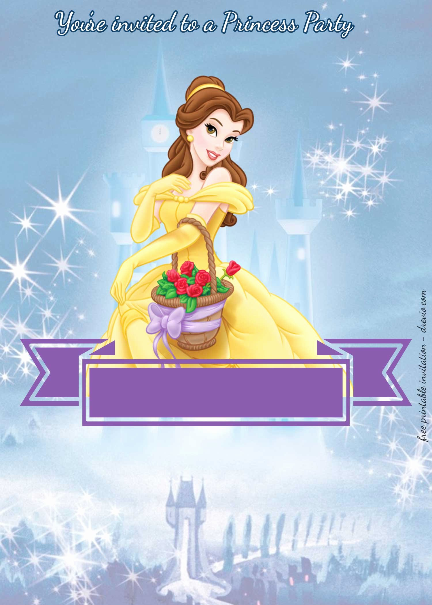 Princess Party Invitation Template Lovely Free Princess Party Birthday Invitation Templates Free Invitation Templates Drevio