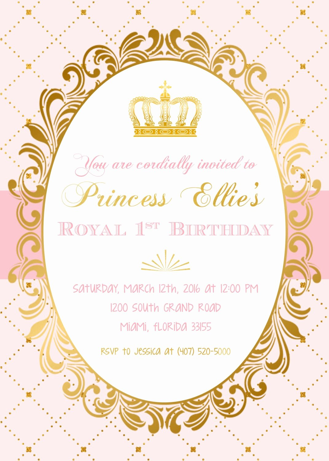 Princess Party Invitation Template Lovely Princess Birthday Invitation Princess Invitation Pink and Gold Invitation Princess Crown