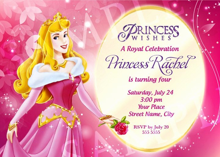 Princess Party Invitation Template Luxury Aurora Princess Birthday Invitation Template by Charisdesignstudio