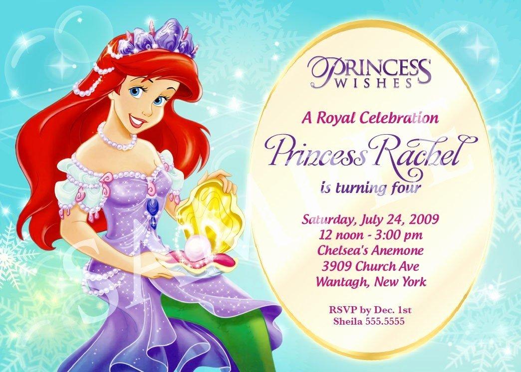 Princess Party Invitation Template Luxury Princess Birthday Invitation Template