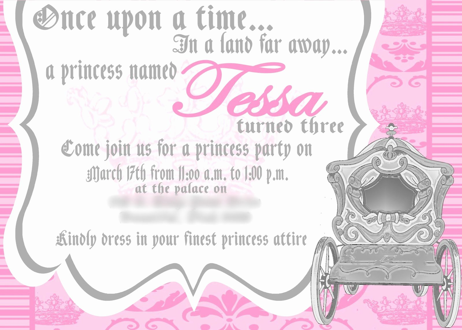 Princess Party Invitation Template Unique Tessa S Princess Party My Mommy Style