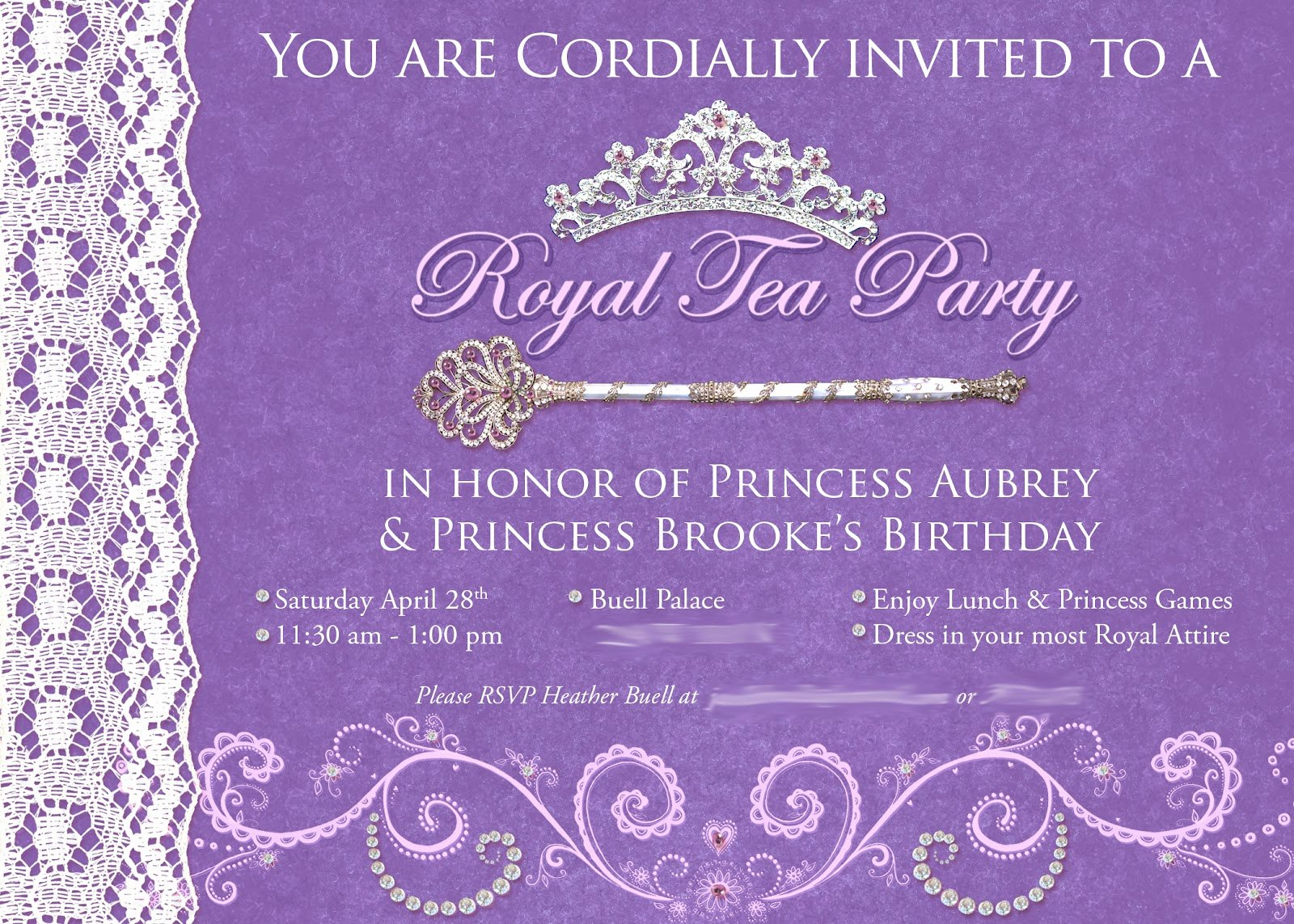 Princess Tea Party Invitations Beautiful the Buell Family Princess Tea Party