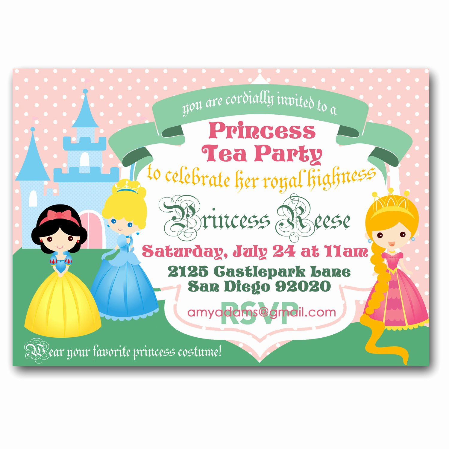 Princess Tea Party Invitations Fresh Princess Tea Party Invitation Royal Tea Birthday Party