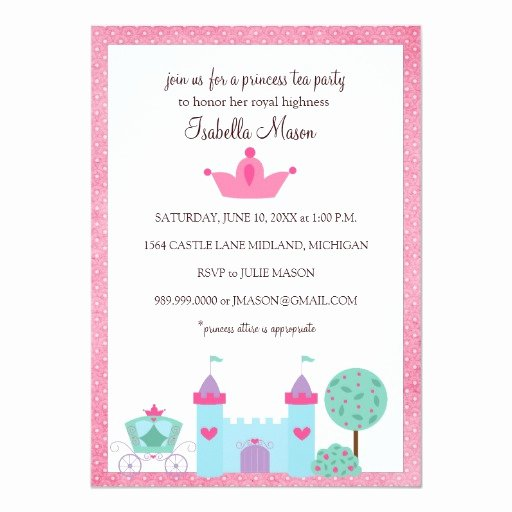 Princess Tea Party Invitations Inspirational Princess Tea Party Invitations