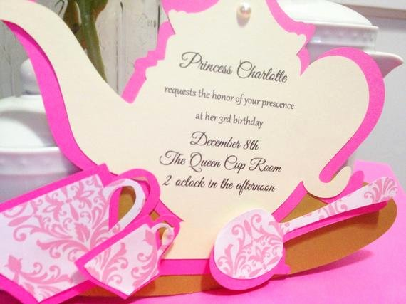 Princess Tea Party Invitations Inspirational Unavailable Listing On Etsy