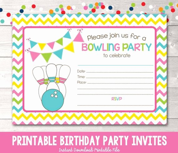 printable bowling party invitation fill