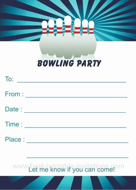 Printable Bowling Party Invitations Elegant Bowling Birthday Party Invitations