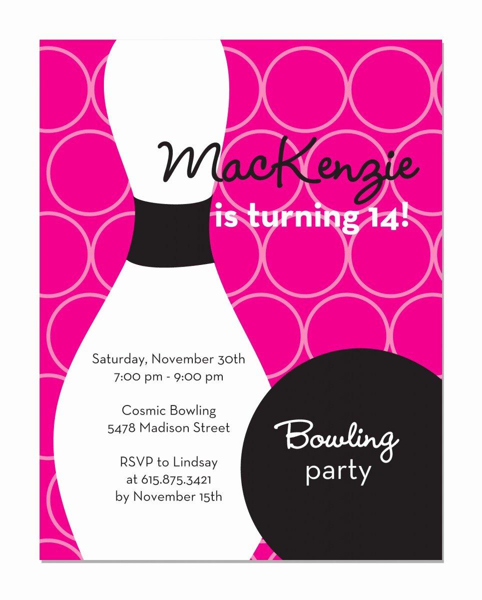 Printable Bowling Party Invitations Fresh Free Bowling Birthday Invitations Printable