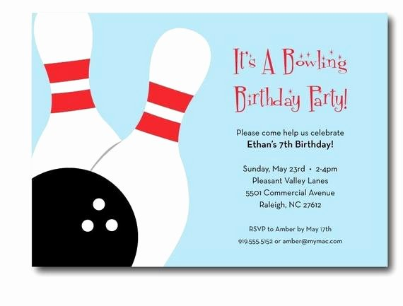 Printable Bowling Party Invitations Lovely Bowling Birthday Party Invitation Printable