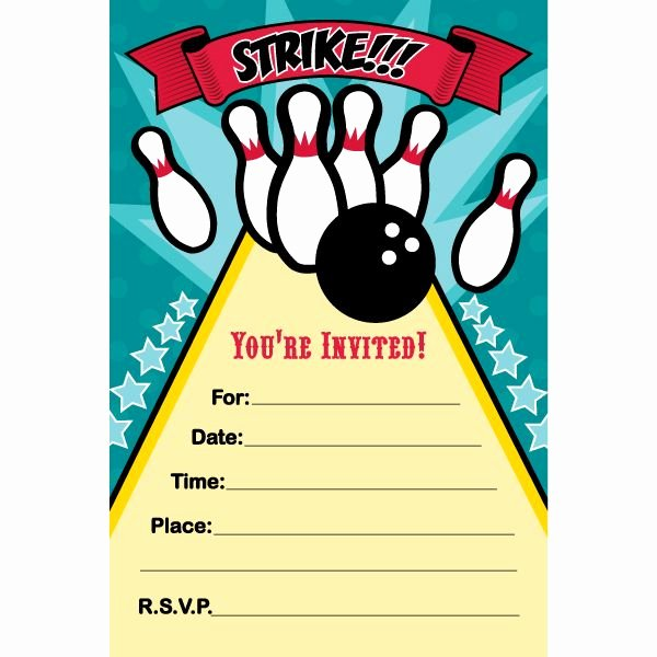 Printable Bowling Party Invitations Luxury 7 Best Bowling 12 Images On Pinterest