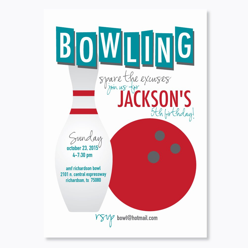 Printable Bowling Party Invitations Unique Bowling Party Invitation Kids Birthday Party Invitation Bar