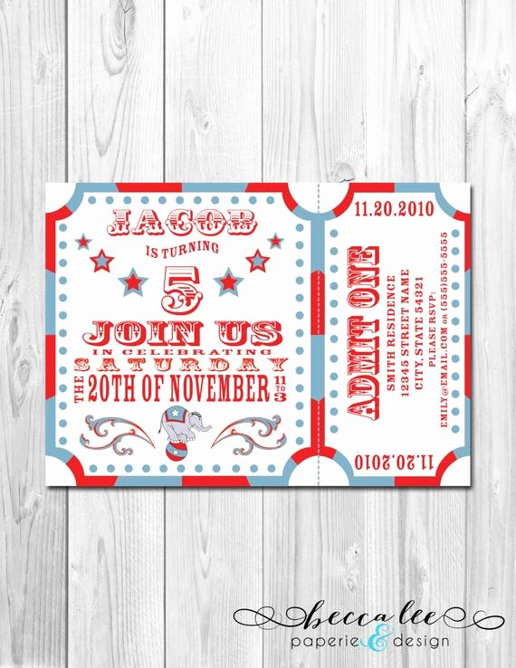 Printable Carnival Birthday Invitations Best Of Items Similar to Circus Carnival theme Party Invitation Diy Printable On Etsy