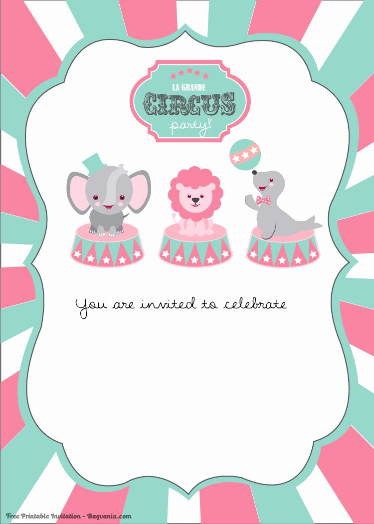 Printable Carnival Birthday Invitations Lovely Free Printable Circus Birthday Invitations Template – Free Printable Birthday Invitation