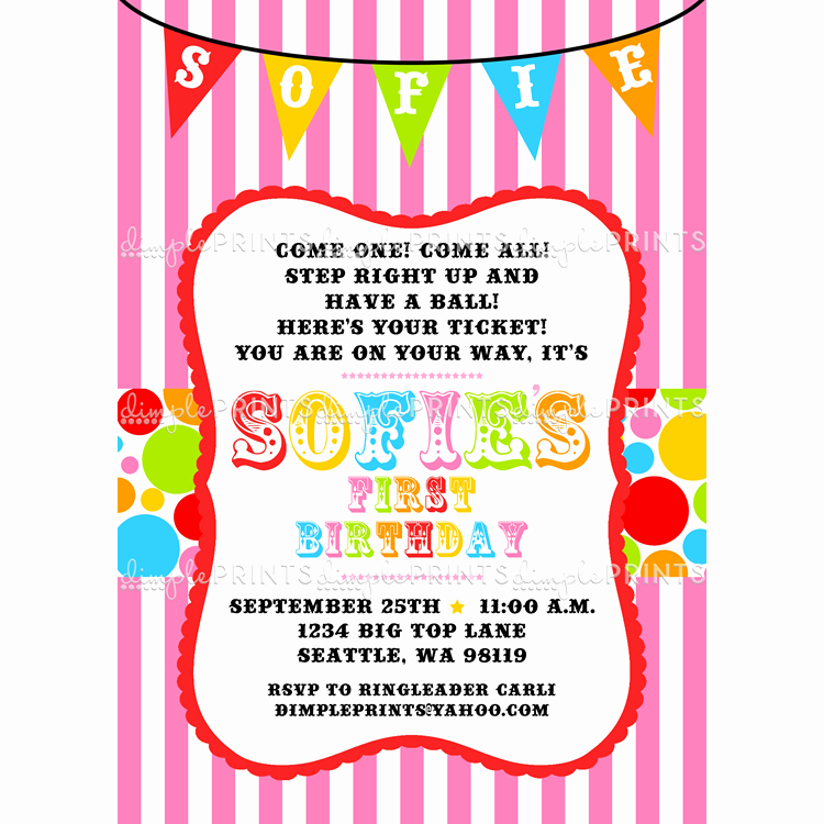 Printable Carnival Birthday Invitations Luxury Free Printable Carnival Birthday Party Invitations