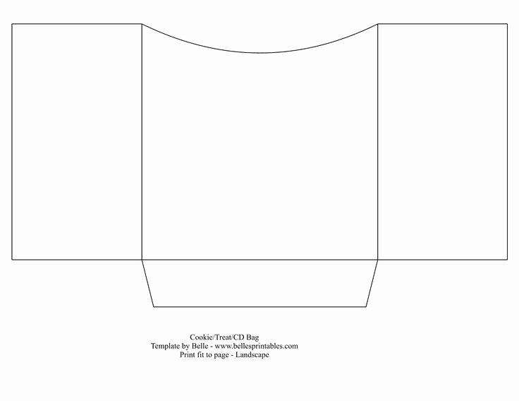 Printable Cd Sleeve Template Unique Cookie or Cd Bag Sleeve Template Just Print On Any Printed Cardstock Bellesprintables Diy