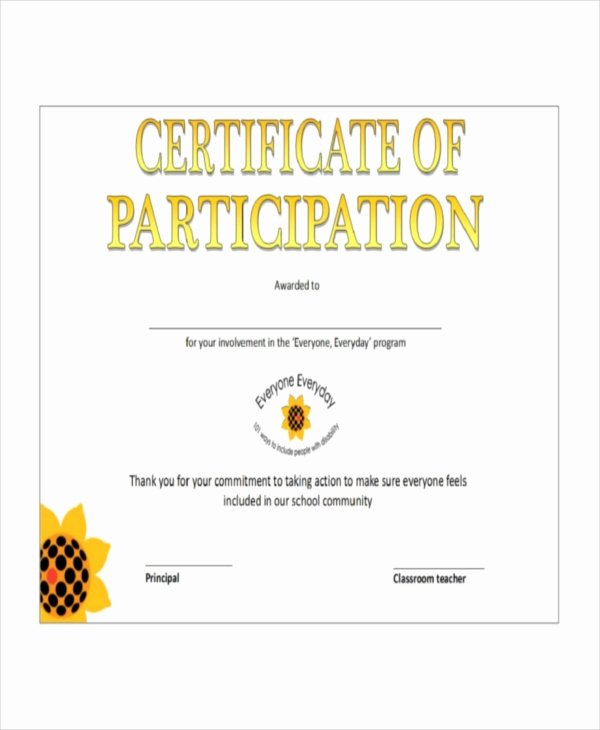 Printable Certificates Of Participation Beautiful Certificate Template 12 Free Word Pdf Document Downloads