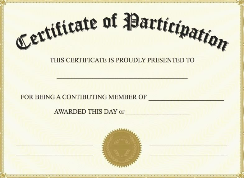 Printable Certificates Of Participation Luxury 40 Fabulous Printable Certificates