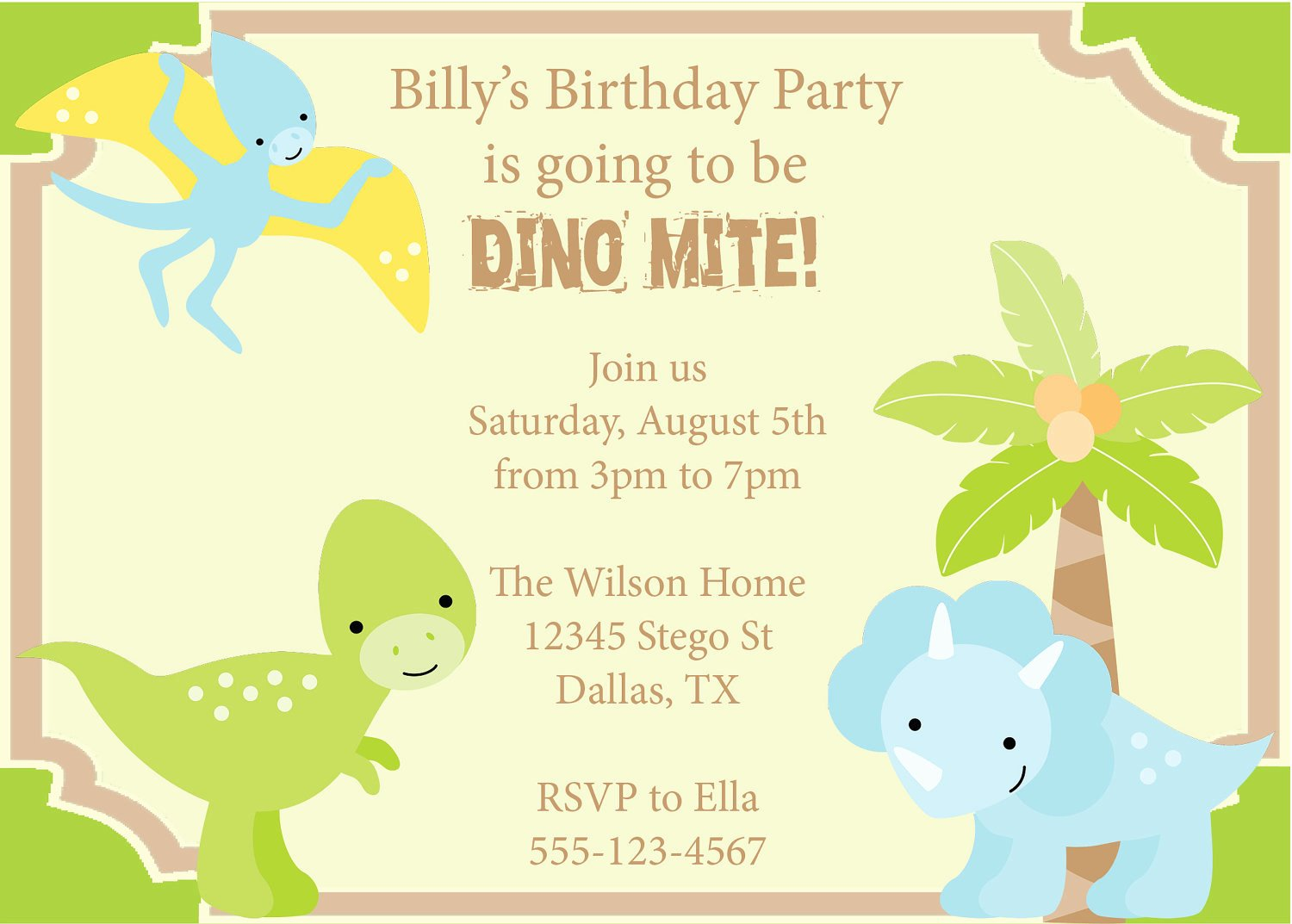 Printable Dinosaur Birthday Invitations Awesome Dinosaur Birthday Party Invitation Prehistoric by Cowprintdesigns
