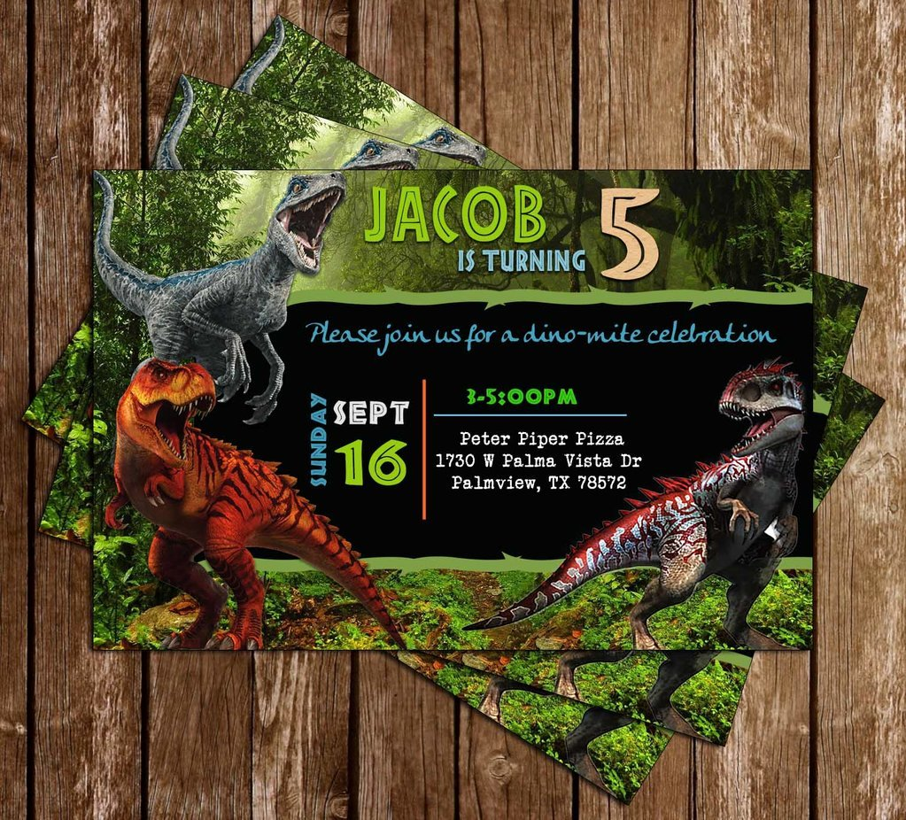 Printable Dinosaur Birthday Invitations Awesome Novel Concept Designs Jurassic World Dinosaurs Birthday Invitation