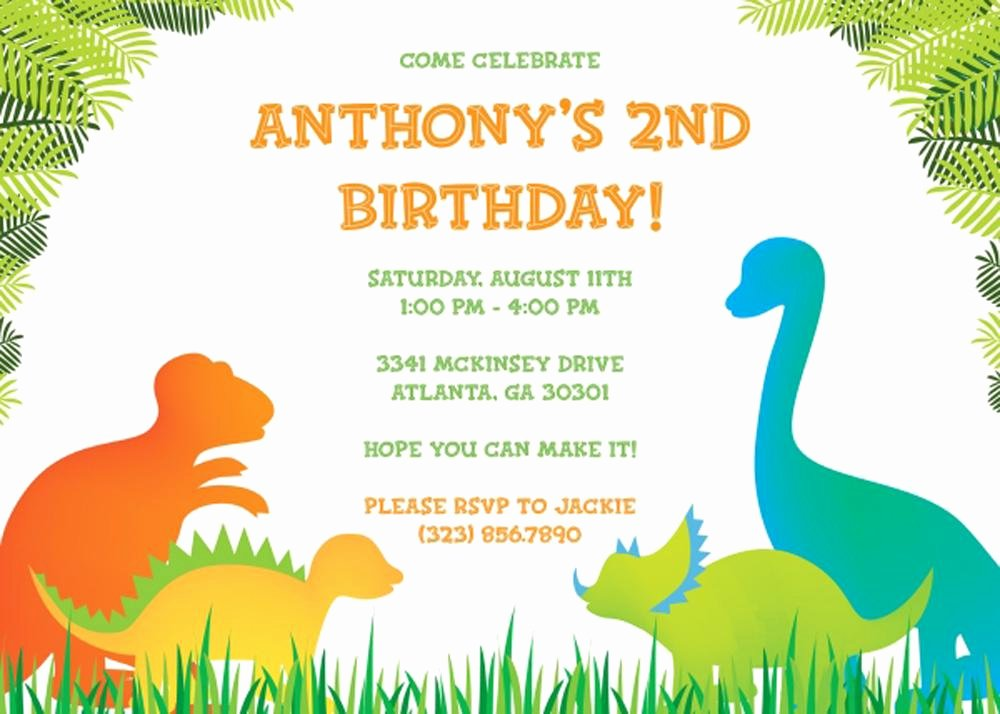 Printable Dinosaur Birthday Invitations Beautiful 17 Dinosaur Birthday Invitations How to Sample Templates