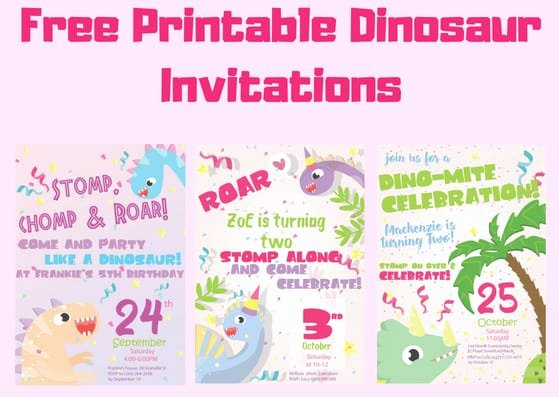 Printable Dinosaur Birthday Invitations Beautiful Free Printable Dinosaur Birthday Invitations 3 Different Designs