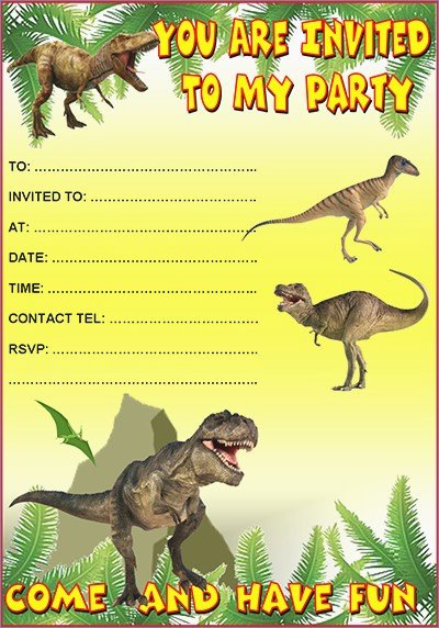 Printable Dinosaur Birthday Invitations Elegant 19 Roaring Dinosaur Birthday Invitations