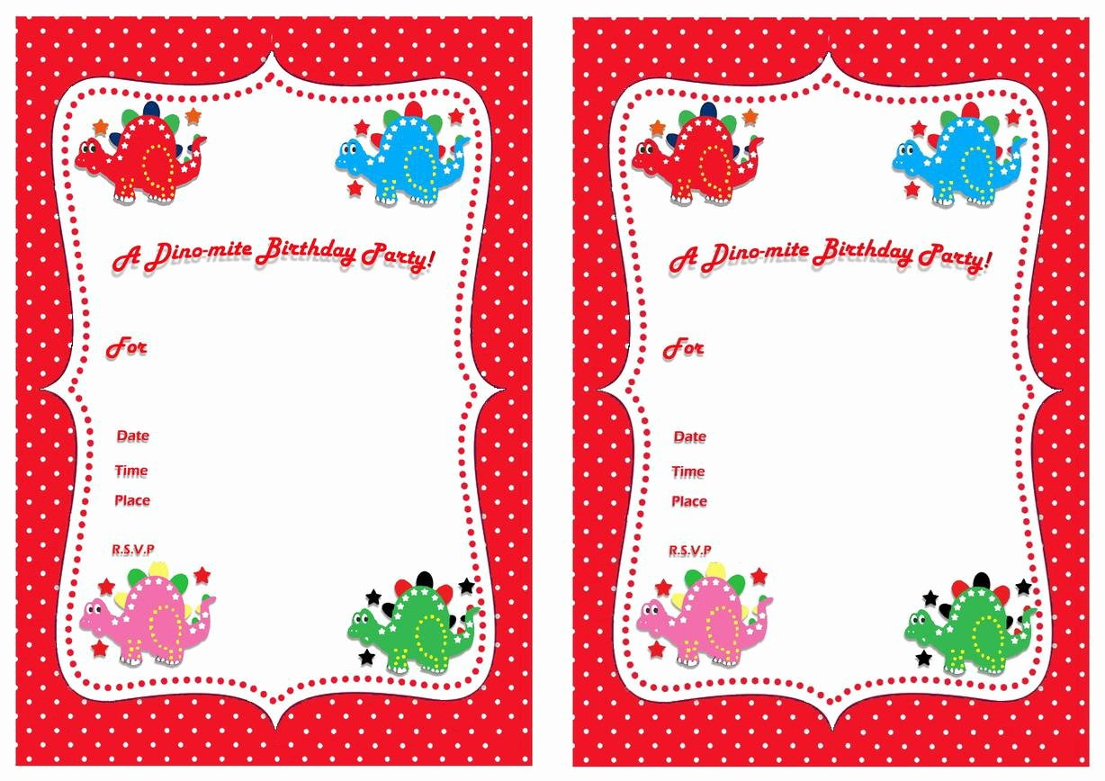 Printable Dinosaur Birthday Invitations Inspirational 17 Dinosaur Birthday Invitations How to Sample Templates