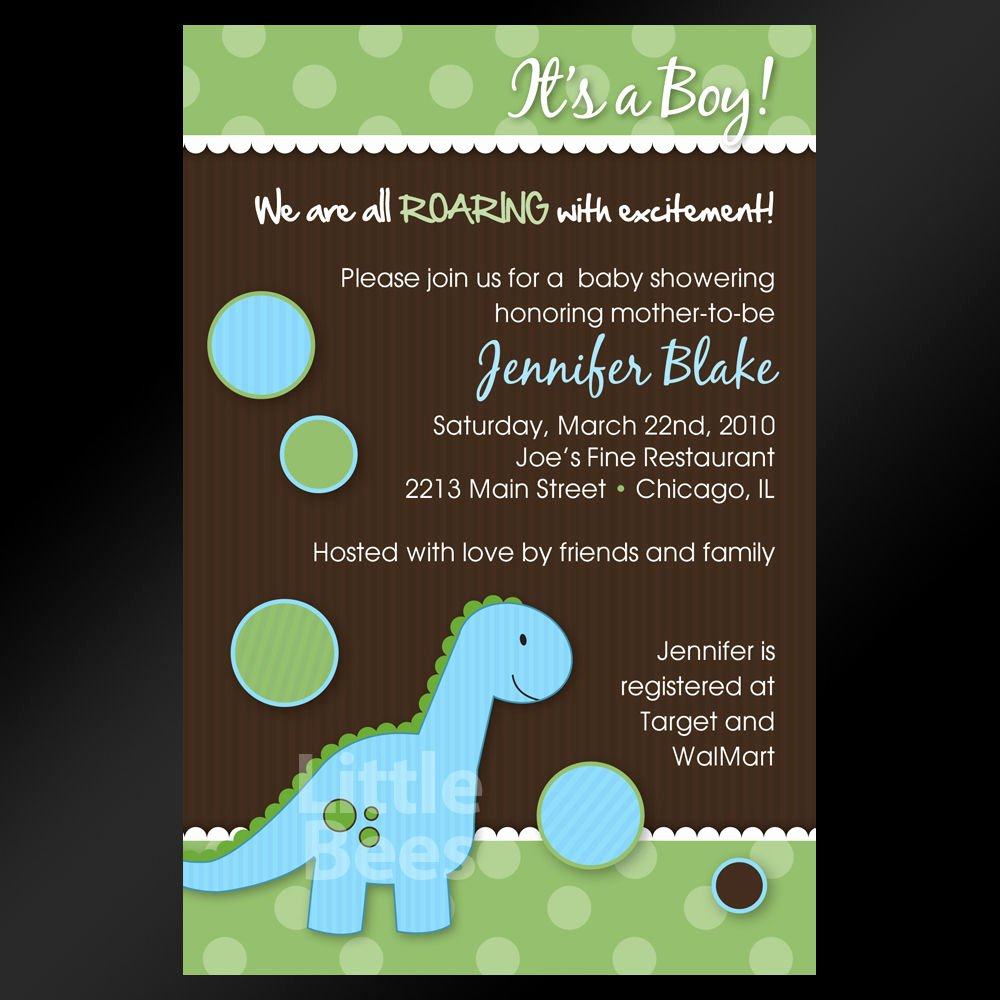 Printable Dinosaur Birthday Invitations Inspirational Adorable Blue Dinosaur Printable Baby Shower or Birthday Invitations