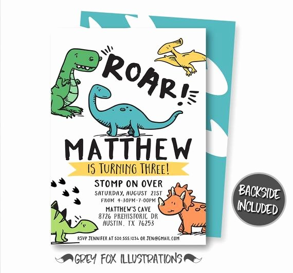 Printable Dinosaur Birthday Invitations Luxury Dinosaur Birthday Invitation Dinosaur Invitation T Rex