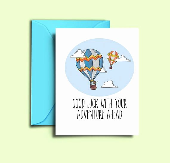 Printable Going Away Card Inspirational Farewell Card for Friends Hot Air Balloon Printable Good Luck Cards Colleague Co Workers Moving