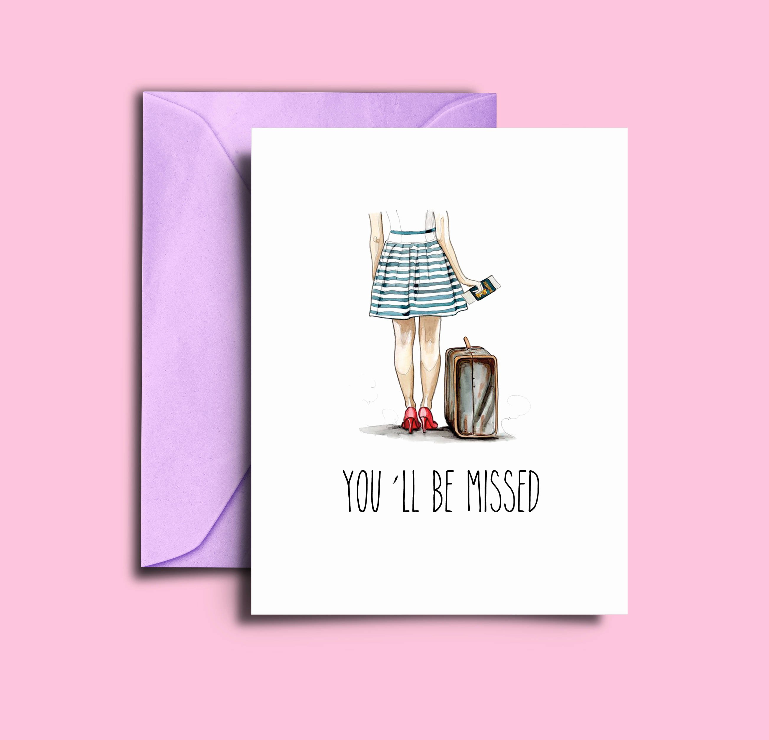Printable Going Away Card Luxury Goodbye Cards for Friends Going Away Card Printable A5