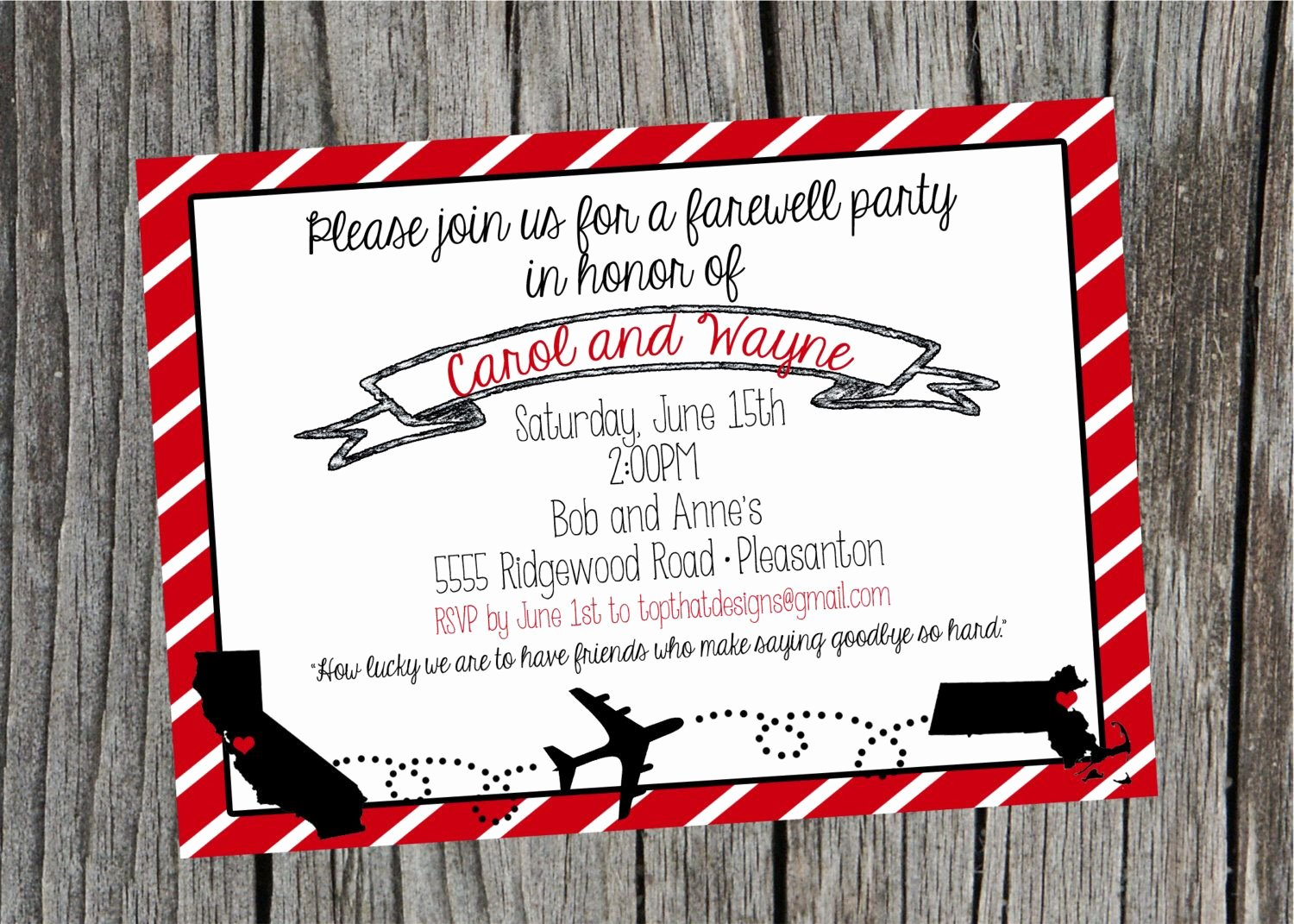 Printable Going Away Card New Pin by Maria Cordeiro On Invitations