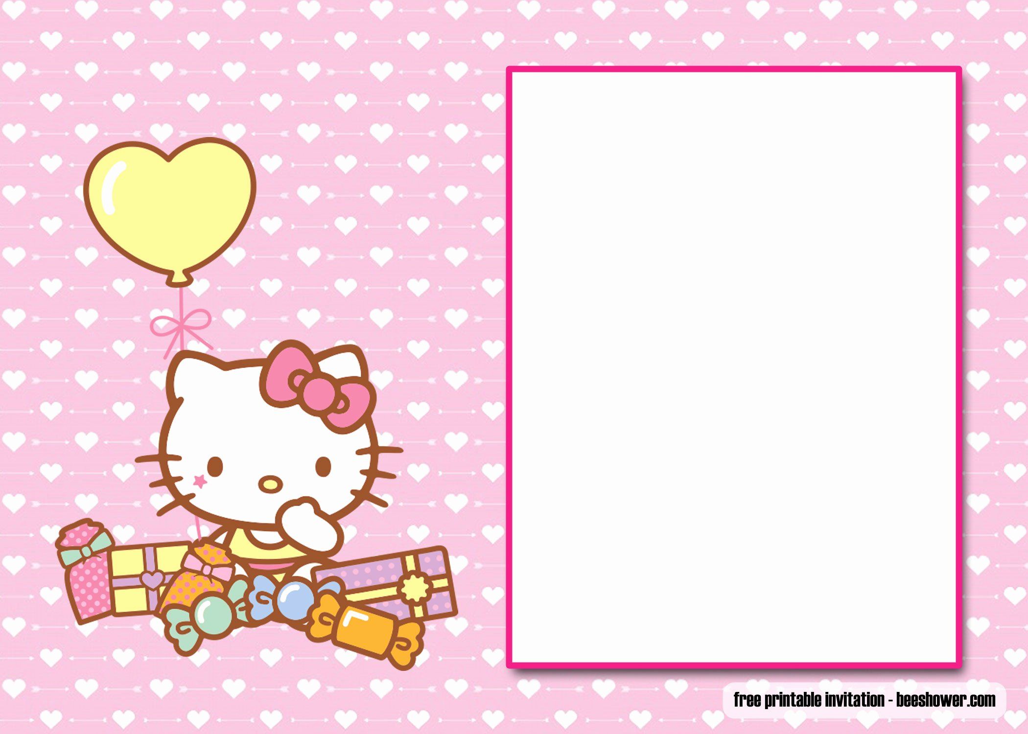 Printable Hello Kitty Invitations Awesome Free Perfect Hello Kitty Baby Shower Invitations