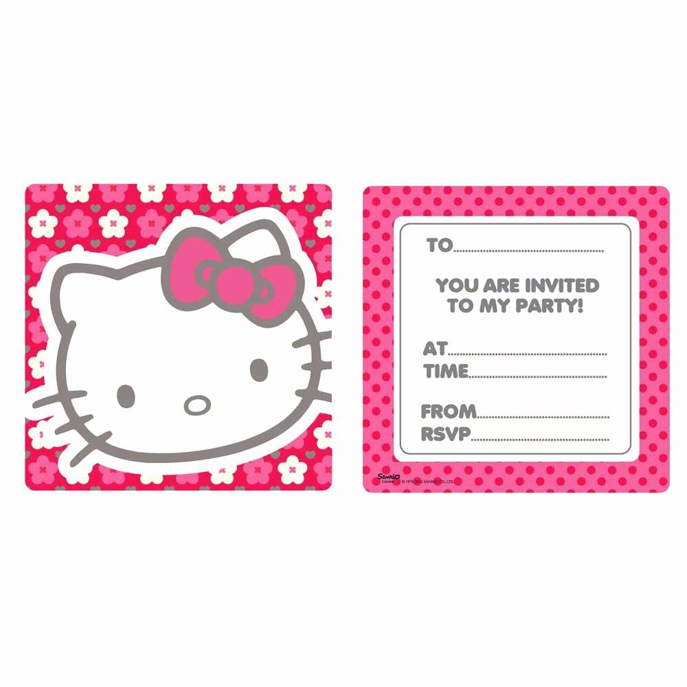 Printable Hello Kitty Invitations Beautiful Free Hello Kitty Printable Invitations Template – Invitation Templates & Samples