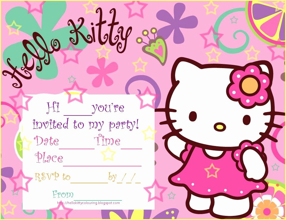 Printable Hello Kitty Invitations Beautiful Pretty Practical Mom Free Printable Hello Kitty Invitations