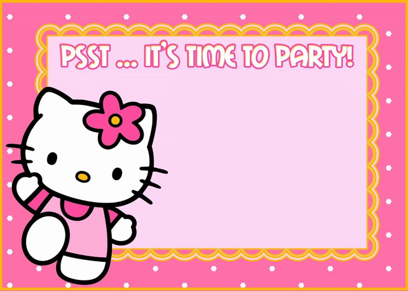 Printable Hello Kitty Invitations Best Of Hello Kitty Free Printable Invitation Templates
