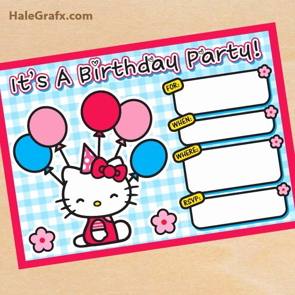 Printable Hello Kitty Invitations Elegant Free Printable Hello Kitty Birthday Invitation Hello Kitty