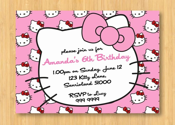 Printable Hello Kitty Invitations Elegant Hello Kitty Birthday Invitations Printable Free – Invitation Templates Word