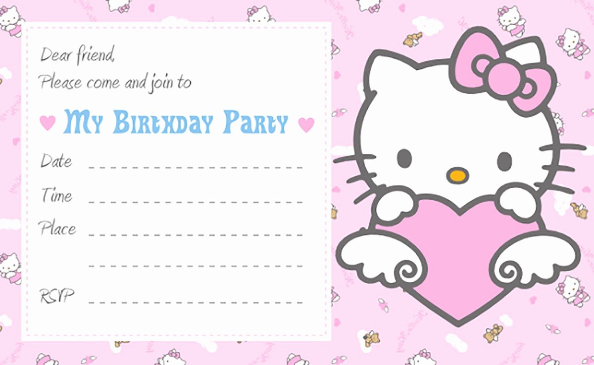 Printable Hello Kitty Invitations Inspirational Hello Kitty Free Printable Invitation Templates