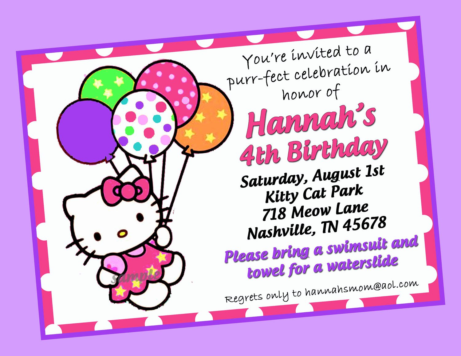 Printable Hello Kitty Invitations Luxury Hello Kitty Invitation Printable