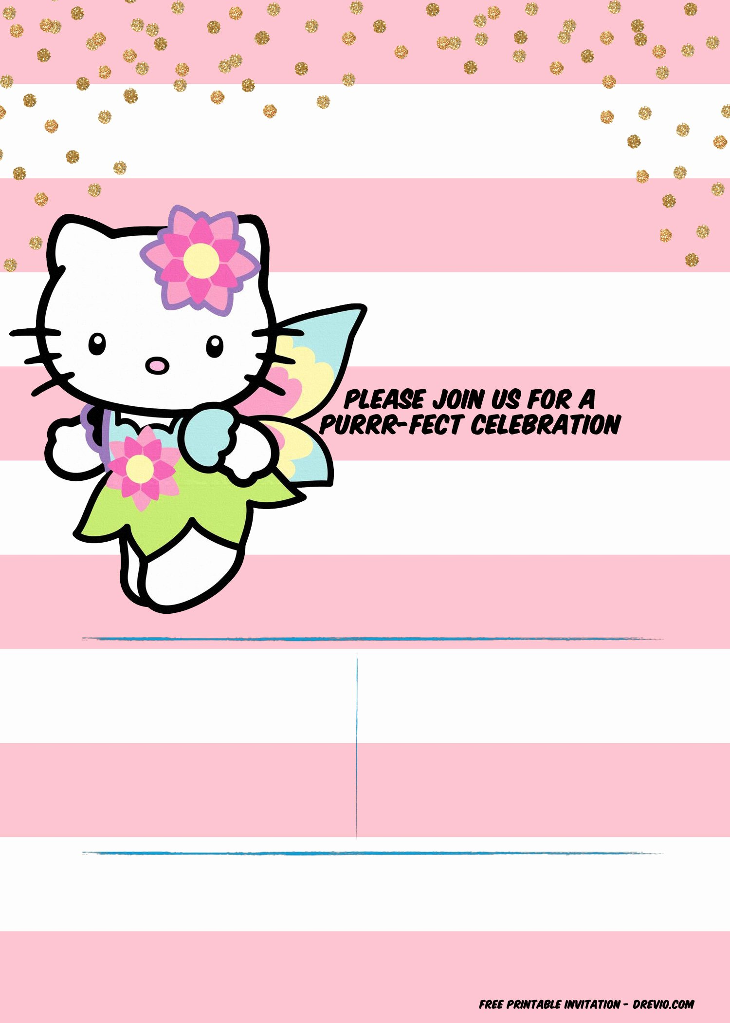 Printable Hello Kitty Invitations New Free Hello Kitty Unicorn Invitation Template – Free Printable Birthday Invitation Templates