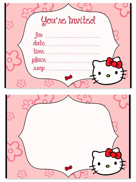 Printable Hello Kitty Invitations New Hello Kitty Birthday Party Invitations for Kids — Printable Treats