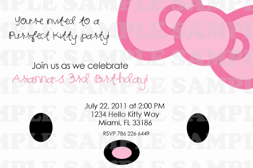 Printable Hello Kitty Invitations Unique Hello Kitty Printable Birthday Invitations Free Invitation Templates Drevio
