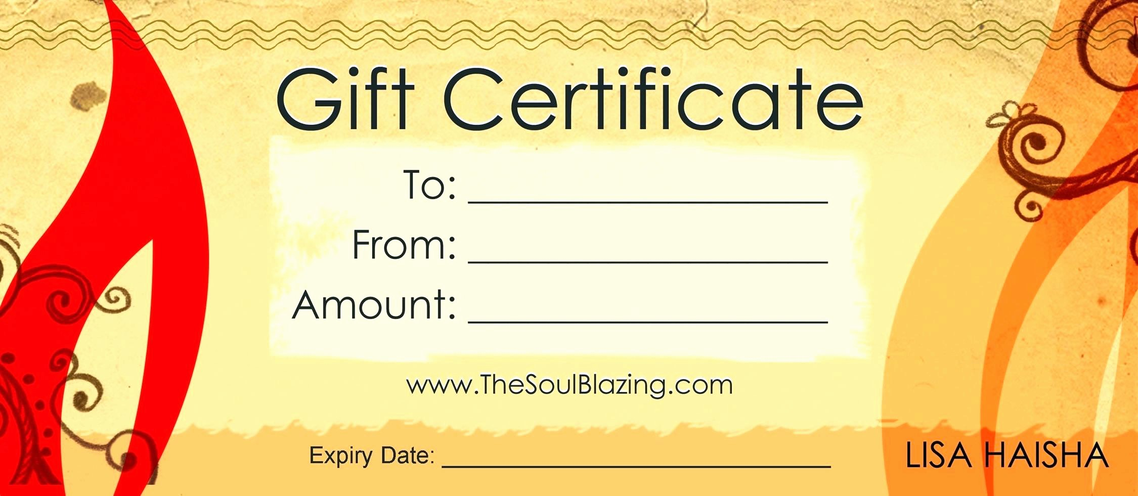 Printable Massage Gift Certificates Best Of Free Printable Massage Gift Certificates