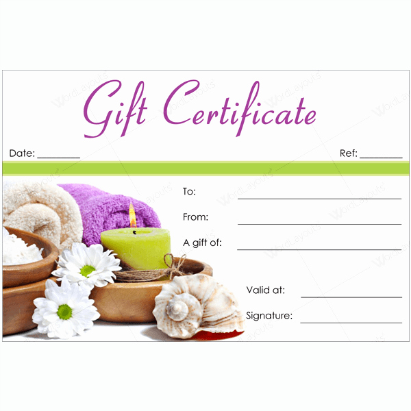 Printable Massage Gift Certificates Elegant 50 Spa Gift Certificate Designs to Try This Season
