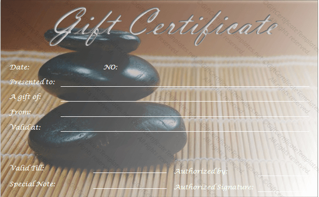 Printable Massage Gift Certificates Fresh Zen Rocks Gift Certificate Template