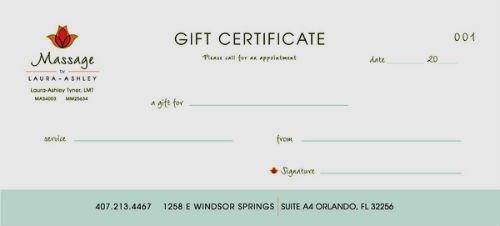 Printable Massage Gift Certificates Inspirational 29 Of Massage Gift Certificate Template